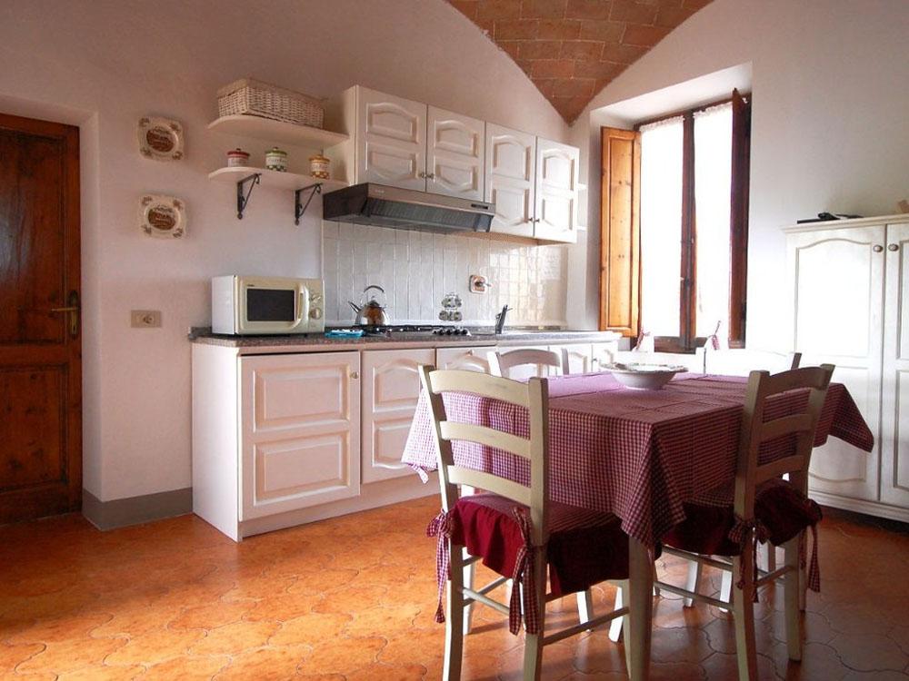 agriturismo casoledelsa siena toscana appartamento rustico cucina